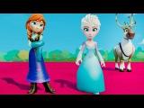 Мультик игра для детей Принцессы Анна и Эльза Холодное Сердце и Человека Паука, машинки ТАЧКИ Дисней