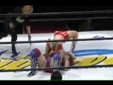 Kana and Rina Yamashita vs. Hiroe Nagahama and Moeka Haruhi in WAVE on 3-4-15