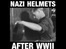 Нацистські шоломи після 2-ї Світової.