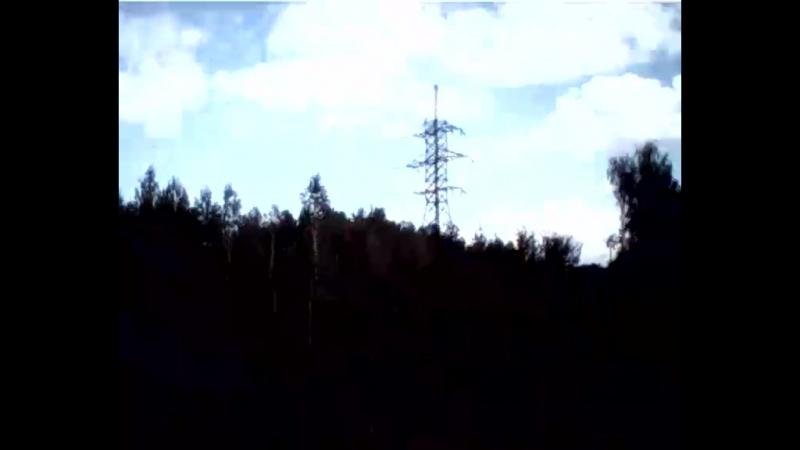 запускаем квадрокоптер на даче))