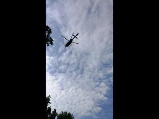 Спасательный вертолёт подобрал больного в Штате Пенсильвания, США