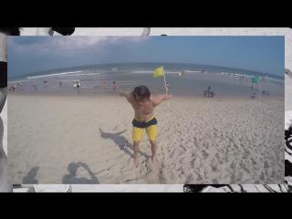Beach Time with friend! Long Beach NJ USA