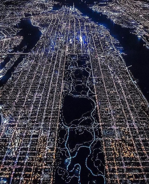 Манхэттен ночью