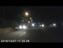 Девушка протаранила автобус