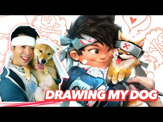 RossDraws: Ross and Milo NINJA STYLE (1 YEAR ANNIVERSARY!)