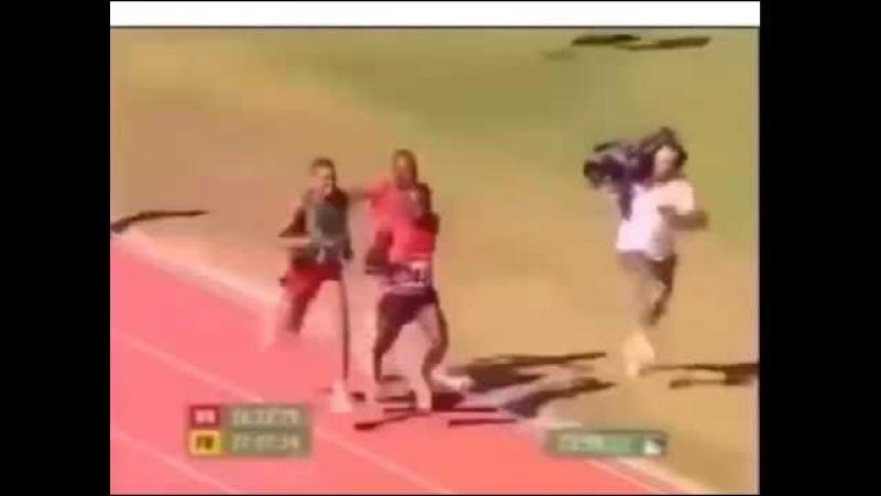 Оператор на олимпийских играх бежит быстрее спортсменов!