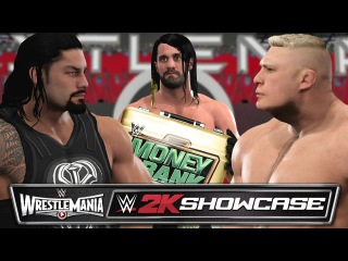 WWE 2K17 2K Showcase - ROLLINS CASHES IN AT WRESTLEMANIA 31 (Architect 2K Showcase Custom DLC)