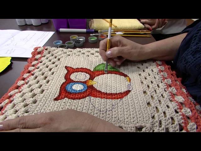 Mulher.com 08082013 Bel Sgarabotto - Tapete em Croche com Pintura P 12