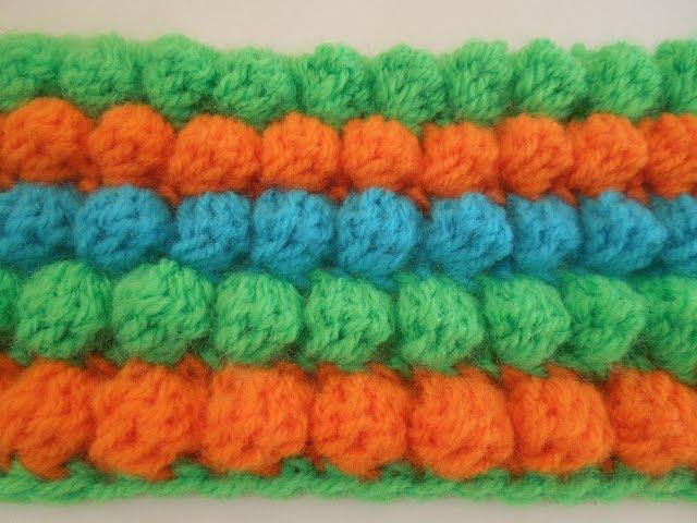 Как связать узор шишечки или попкорн крючком? how to crochet popcorn?