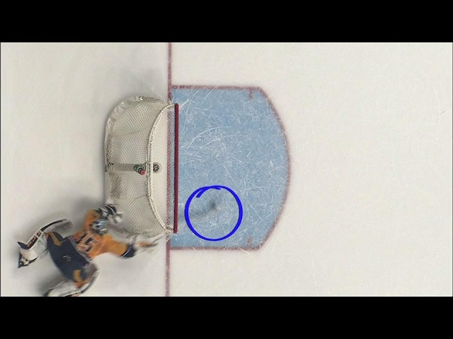 Rinne forced to make desperate save on bizarre bounce