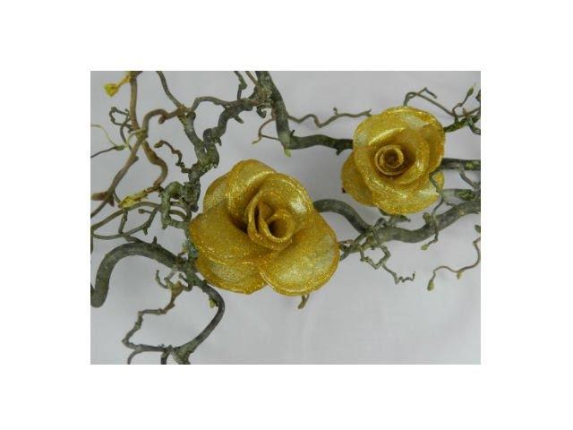 DIY Как сделать розу из горячего клея Мастер класс