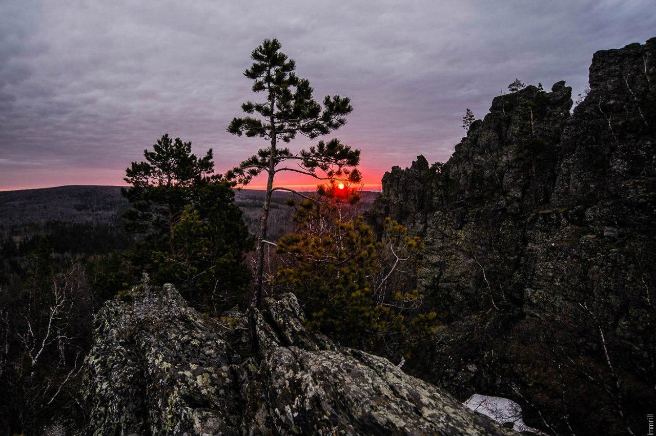 Рассвет на Синих горах