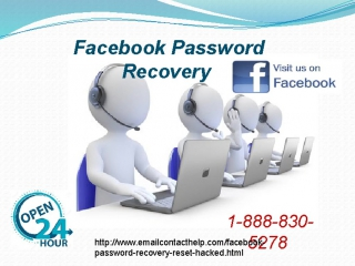 Recover Facebook Password 1-888-830-5278 is available 24/7