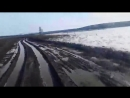В Якутии такие глубокие колеи, что рулить необязательно