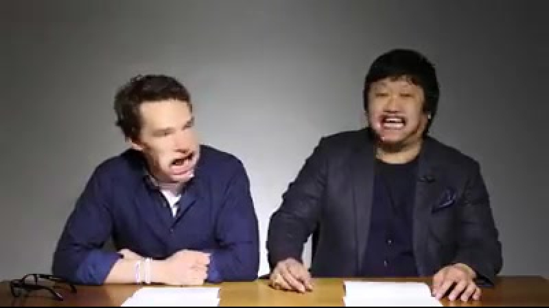 Benedict Cumberbatch and Benedict Wong Sing Beyonce with mouthguards