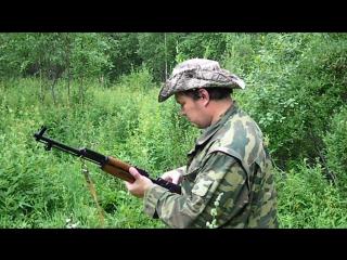 скс в лесу видео