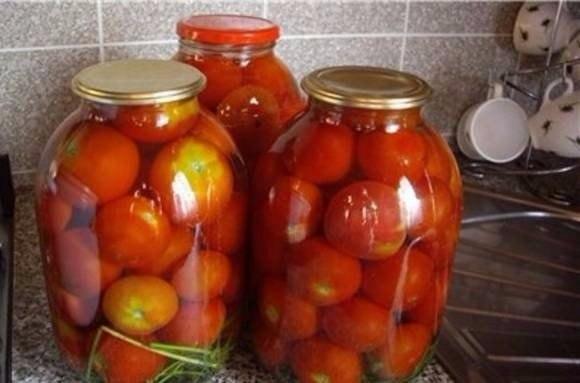 Закатываем помидоры без уксуса Ингредиенты (в расчете на