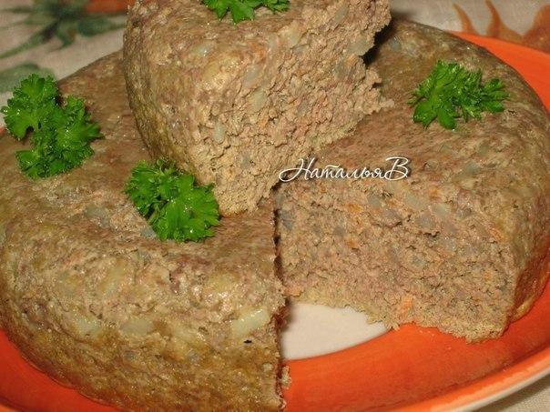Печеночное суфле с рисом Печень куриная(свиная, говяжья) -