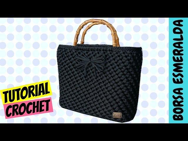 Tutorial borsa uncinetto Esmeralda | Punto spiga | How to make a crochet bag || Katy Handmade