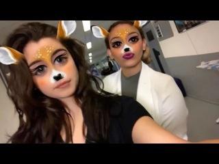 27 октября 2016: Лорен и Дайна в инстаграме «RTL Boulevard».