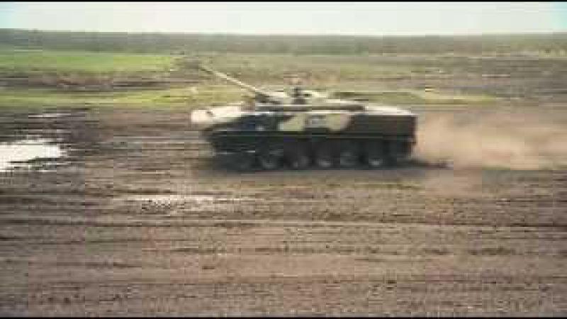 Гонка на БМП-3 и БТР-80.