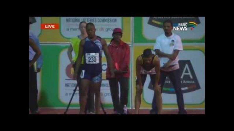 Akani Simbine runs 9.95 (-0.7) Defeats Van Niekerk 100m Final SA Championships 2017 [HD]