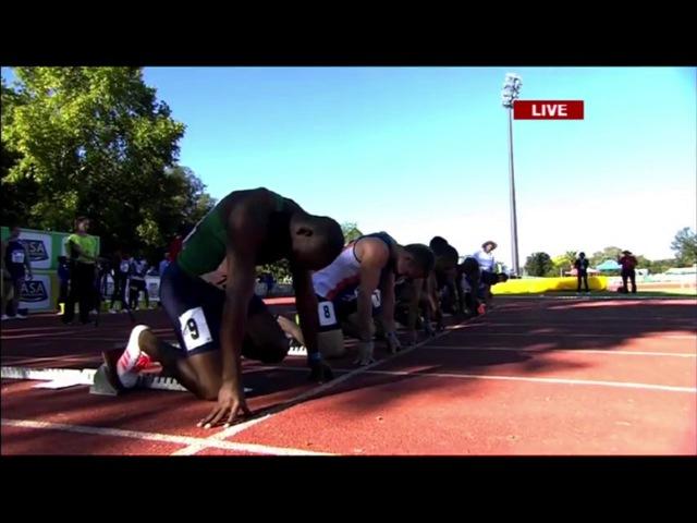 Akani Simbine runs 9.94 (0.2) 100m Semifinal SA Championships 2017