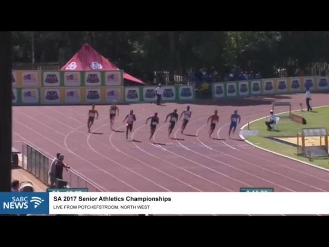 Akani Simbine cruises to 20.56 men's 200m Semi Final SA Championships 2017