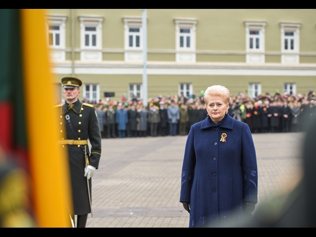 Trijų Baltijos valstybių vėliavų pakėlimo ceremonija S. Daukanto aikštėje