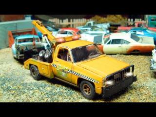 Der Gelbe Abschleppwagen - Die große Autos für Kinder - Lehrreicher Zeichentrickfilm für Kinder
