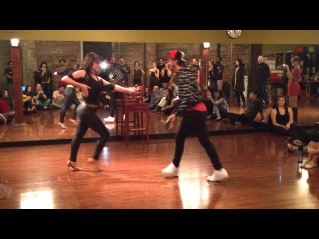 Zouk demo by Kamacho Xtine - with a guitar - Seattle Workshops 2015
