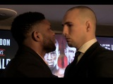 Rory Macdonald and Paul Daley face off at the Bellator 179 press conference in London rory macdonald and paul daley face off at