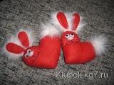 Валентинки из сердечек делаем своими руками Valentines from hearts, do with their hands