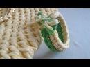 Вязание крючком. Браслет к сумке.
