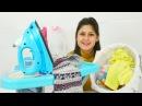 Ayşe Gül'ün eşyalarını yıkı bebek bakımı. Kız oyunları ve oyuncakları