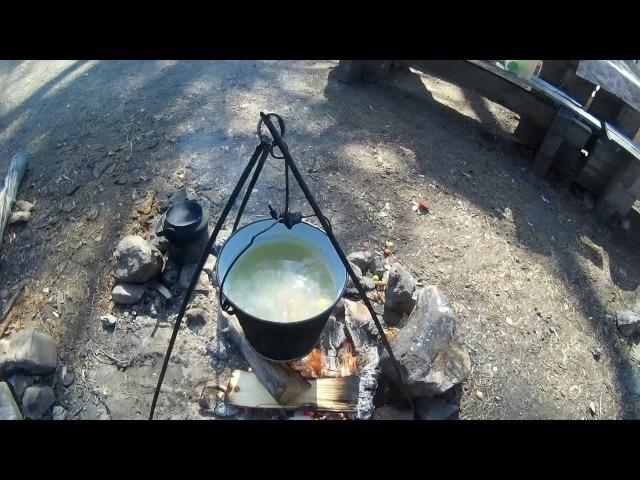 Байкальский обед из омуля. Baikal lunch