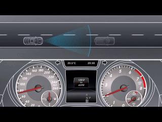 Mercedes Benz CLA класса Система предотвращения аварий COLLISION PREVENTION ASSIST)