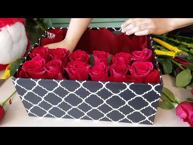 Houston Florist DIY GIFT ROSE BOX ROSES IN A BOX Ace Flowers