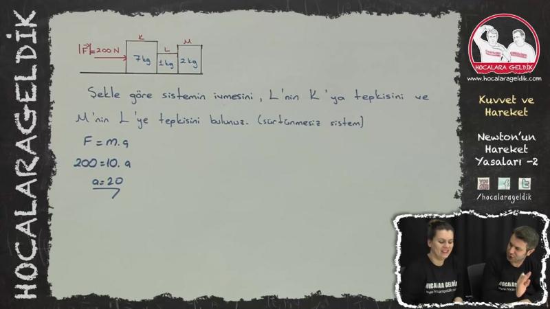 Kuvvet ve Hareket - Newton'un Hareket Yasaları -2