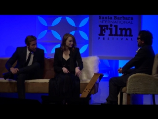 SBIFF 2017 - Ryan Gosling Emma Stone Discuss La La Lands LA Worships Line