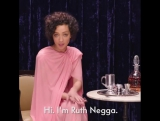Let Ruth Negga demonstrate the proper way to make an Irish coffee