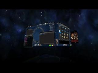 ubuntu 3D Desktop (Cube) (KDE  Compiz Fusion  CairoDock)