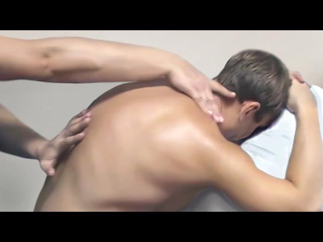 Массаж ШВЗ (шейно воротниковой зоны), в положении сидя. Massage the neck and shoulders sitting