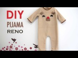 DIY Disfraz casero tipo pijama de RENO para beb
