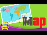 Kids vocabulary - Map - Using a map - Learn English for kids - English educational video