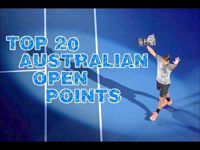 Roger Federer - Top 20 Australian Open 2017 Points