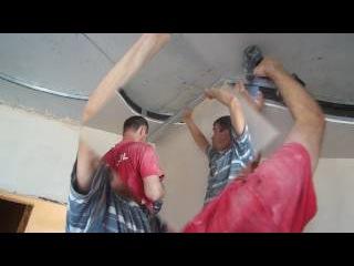 МОНТАЖ потолка из ГИПСОКАРТОНА ПОТОЛОК из гипсокартона СВОИМИ РУКАМИ