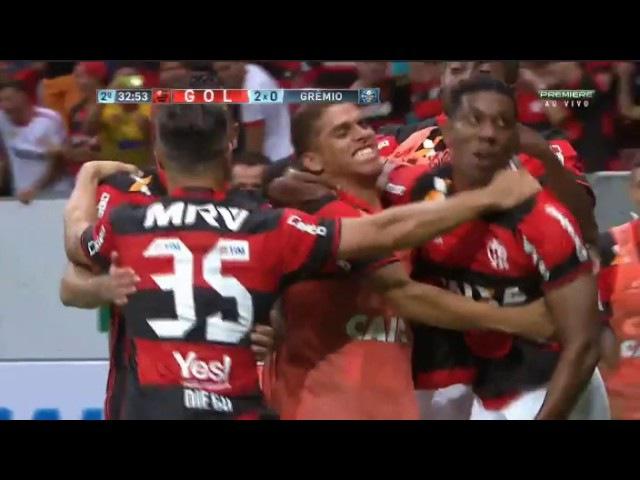 Gol de Berrio, Flamengo 2 x 0 Gremio, 2017