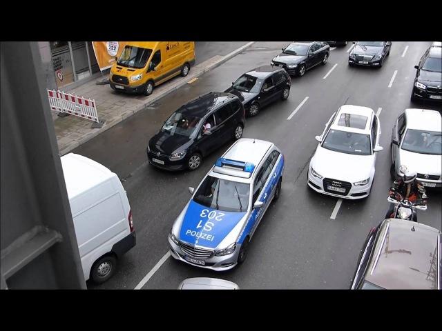 Bitte fahren Sie nach vorne und bilden eine Rettungsgasse Vielen Dank FuStW Polizei Stuttgart
