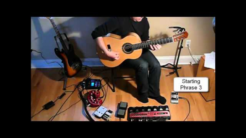 How I use my guitar with the boss RC50 loop station - John Gilliat Freedom